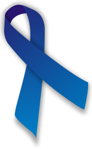 Awareness ribbon is blue