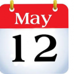 Welcome to the May 12th Blog!