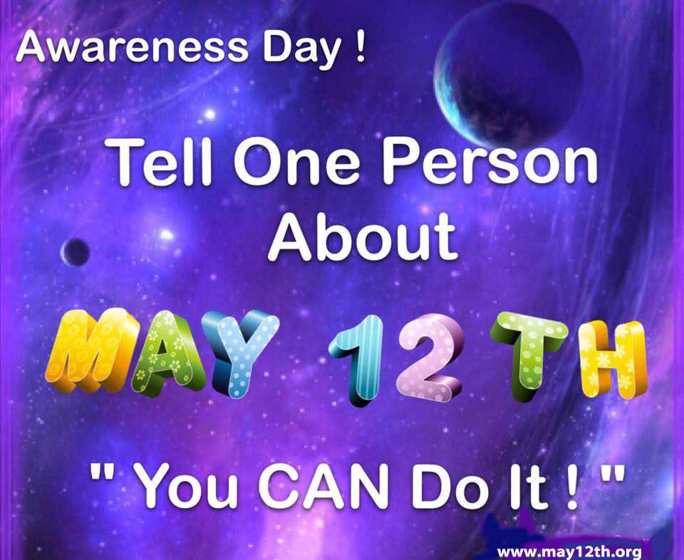 May 12, 2016 – International Awareness Day for CIND