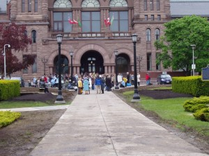 People start to arrive at Queen's Park