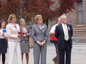 MPP Hon Kathleen Wynne, Minster of Transportation, MPP Hon Laurel Broten, Minister Responsible for Women's Issues and Minister of Children and Youth Services , MPP John O'Toole